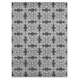 Amer Ascent Square Medallion Hand Tufted Accent Rug in Silver
