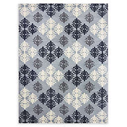 Amer Ascent Diamond Medallion Hand Tufted Accent Rug in Pearl