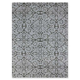 Amer Ascent Large Damask Hand Tufted Accent Rug in Grey