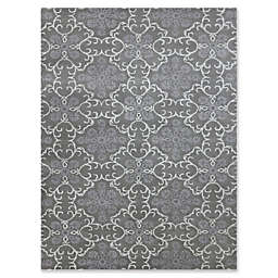 Amer Ascent Large Medallion Hand Tufted Accent Rug in Dove Grey