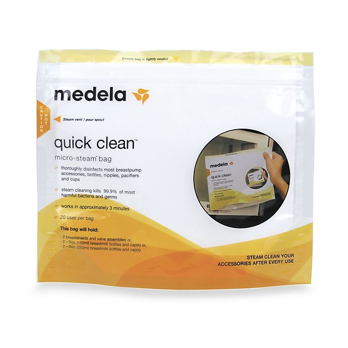 Alternate image 1 for Medela® Quick Clean™ 5-Count Micro-Steam™ Bags