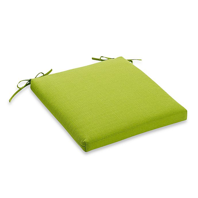 Alternate image 1 for Medford Solid Square Bistro Cushion in Lime