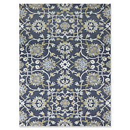 Amer Bloom Traditional Rug in Grey