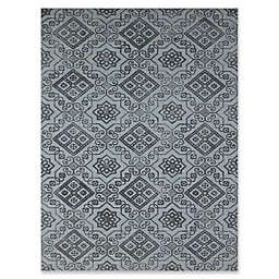 Amer Rugs Bansi Modern Hand-Tufted Rug in Blue