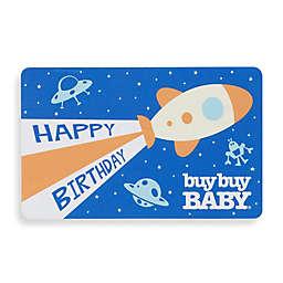 """HAPPY BIRTHDAY"" Rocket Ship Gift Card"