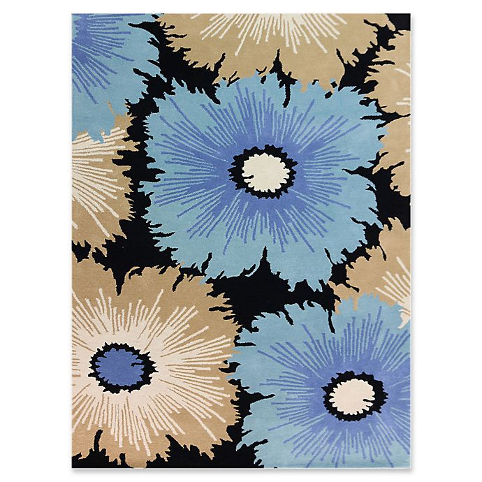 Alternate image 1 for Amer Rugs Bombay Floral 8' x 11' Hand-Tufted Area Rug in Ebony