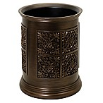 India Ink Imperial Wastebasket in Tuscan Gold
