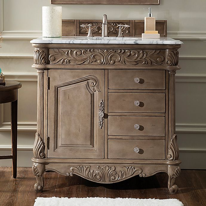 Alternate image 1 for James Martin Furniture Monte Carlo 36-Inch Single Vanity in Empire Grey