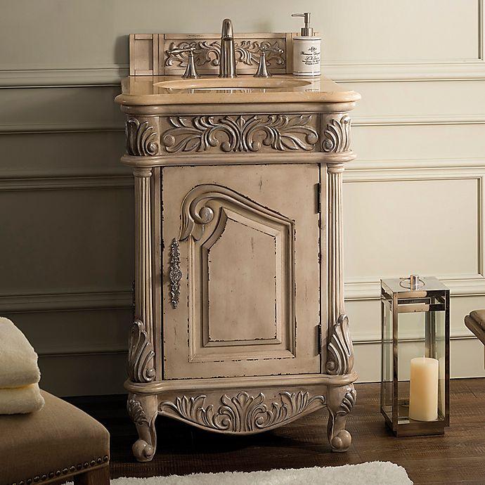 Alternate image 1 for James Martin Furniture Monte Carlo 24-Inch Single Vanity in Empire Linen