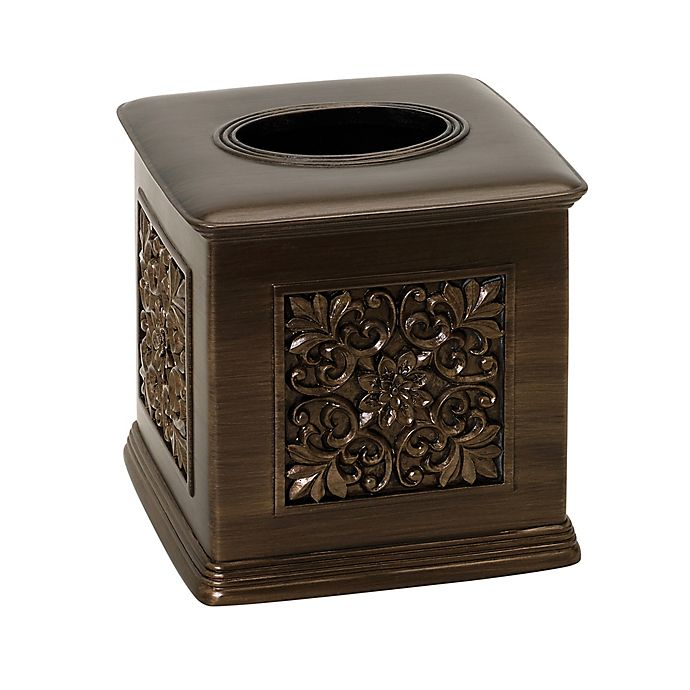 Alternate image 1 for India Ink Imperial Boutique Tissue Box Holder in Tuscan Gold