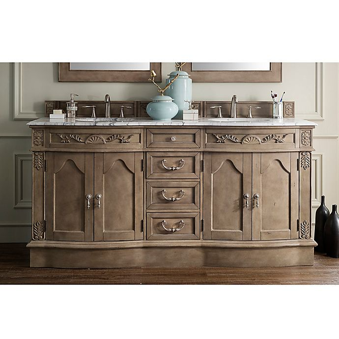 Alternate image 1 for James Martin Furniture Amalfi 72-Inch Double Vanity in Empire Grey