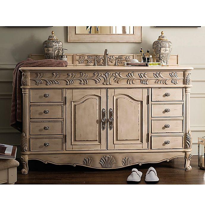 Alternate image 1 for James Martin Furniture St. James 60-Inch Single Vanity in Empire Linen