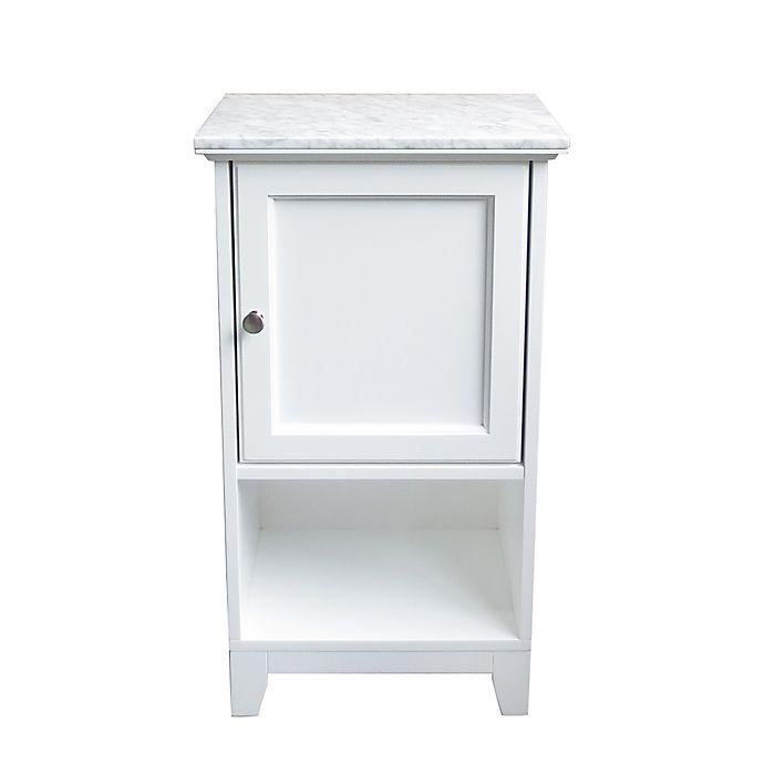 Carrara Marble Top Floor Cabinet Bed