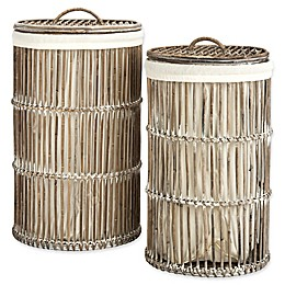Safavieh Libby Rattan Storage Hamper with Liner