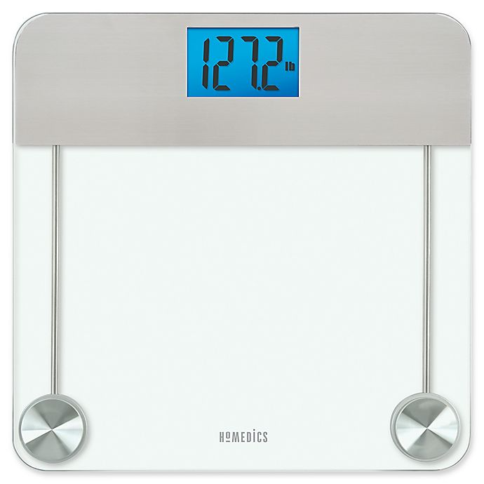 Alternate image 1 for HoMedics® Stainless Steel/Glass Digital Bathroom Scale