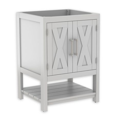 Bell 39 o conington 24 inch freestanding bathroom vanity in white bed bath beyond for Freestanding 24 inch bathroom vanity