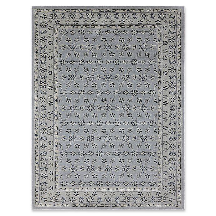 """Alternate image 1 for Amer Castille Floral 7'6"""" x 9'6"""" Hand Tufted Area Rug in Blue"""
