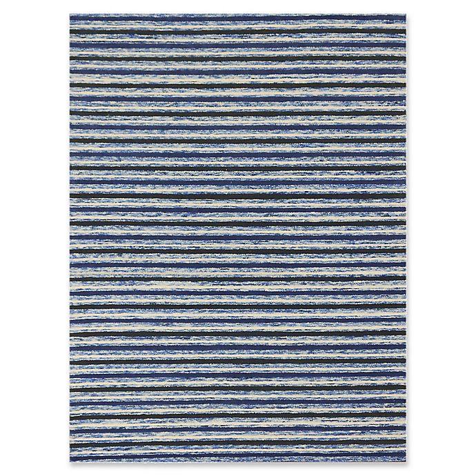Alternate image 1 for Amer Rugs Hudson Stripes 8' x 11' Area Rug in Blue