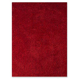 Amer Illustrations 3'6 x 5'6 Shag Area Rug in Red