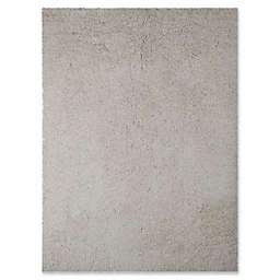Amer Illustrations 5'x 7'6 Shag Area Rug in White