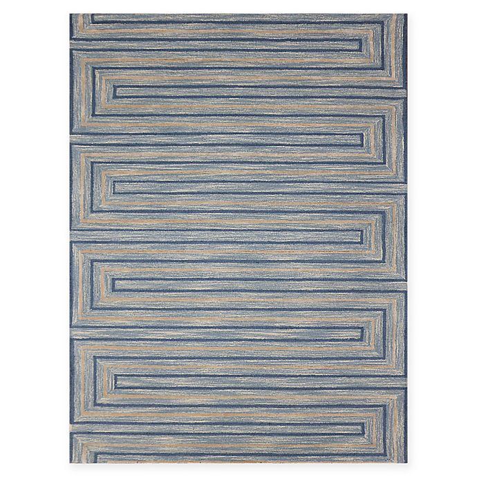 Alternate image 1 for Amer Rugs Dwell Meander 5' x 8' Area Rug in Blue