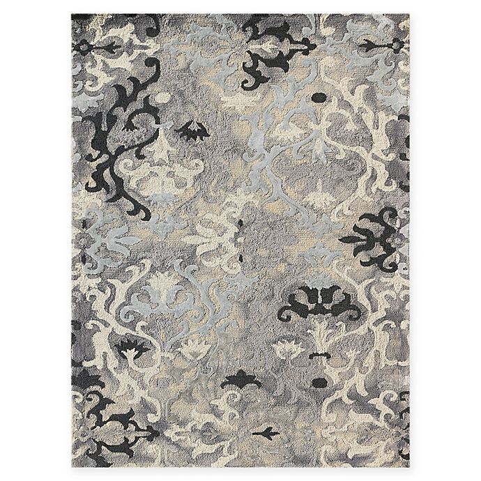 Alternate image 1 for Amer Rugs Kanoka 7'6 x 9'6 Scroll Hand-Tufted Area Rug in Silver