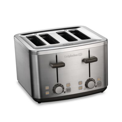 Calphalon 174 Brushed Stainless Steel 4 Slice Toaster Bed