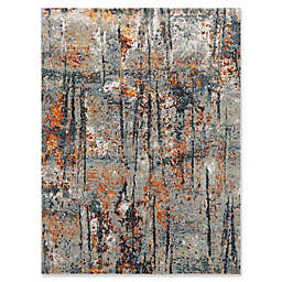 Amer Synergy Transitional Hand-Knotted 2' x 3' Area Rug in Blue