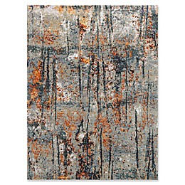Amer Synergy Transitional Hand-Knotted Area Rug in Blue