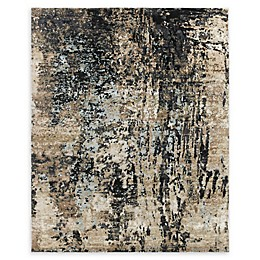 Amer Synergy Transitional Hand-Knotted Area Rug in Charcoal