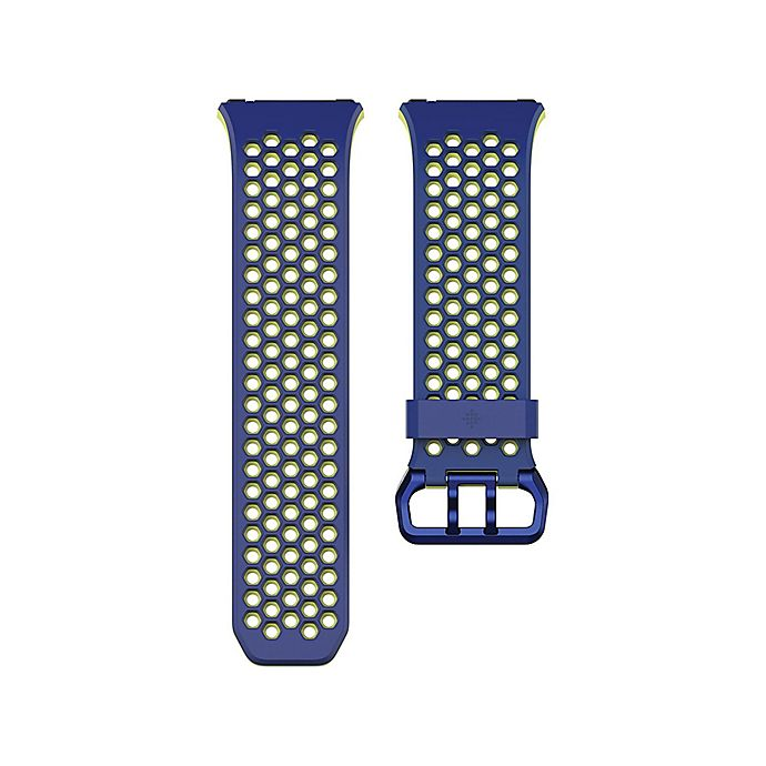 Alternate image 1 for Fitbit® Sport Band in Blue/Yellow