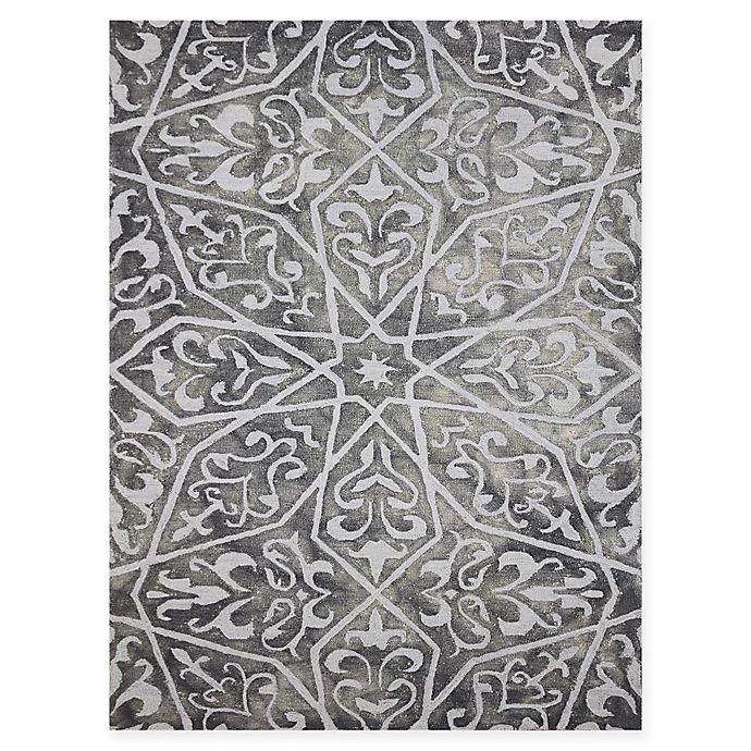 Alternate image 1 for Amer Shibori Tie-Dye Vine 2' x 3' Accent Rug in Grey
