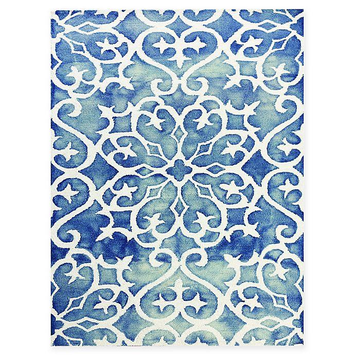 Alternate image 1 for Amer Shibori Tie-Dye Vine 5' x 8' Area Rug in Blue