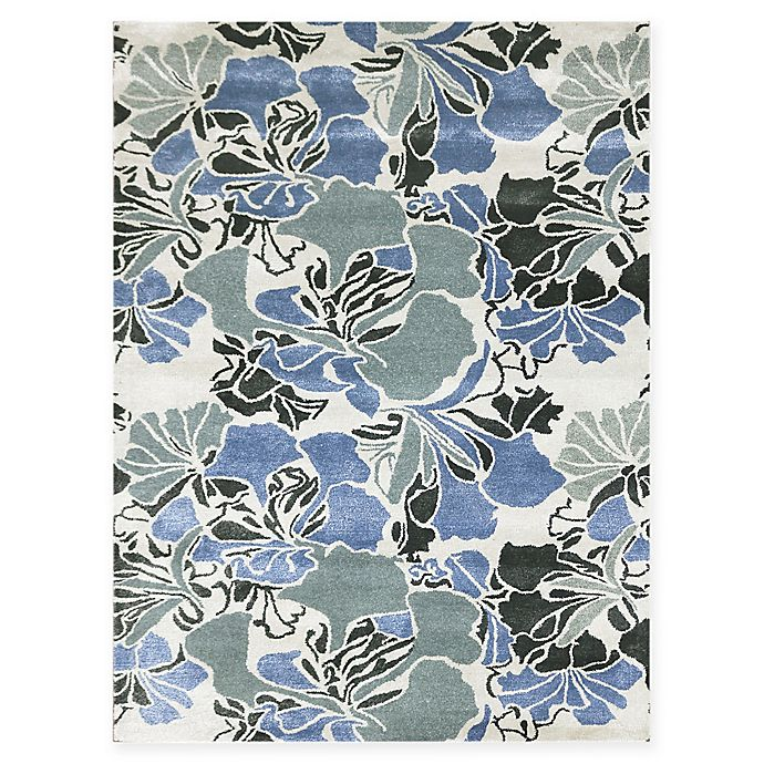 Alternate image 1 for Amer Shimmer Floral Spray 2' x 3' Accent Rug in Blue