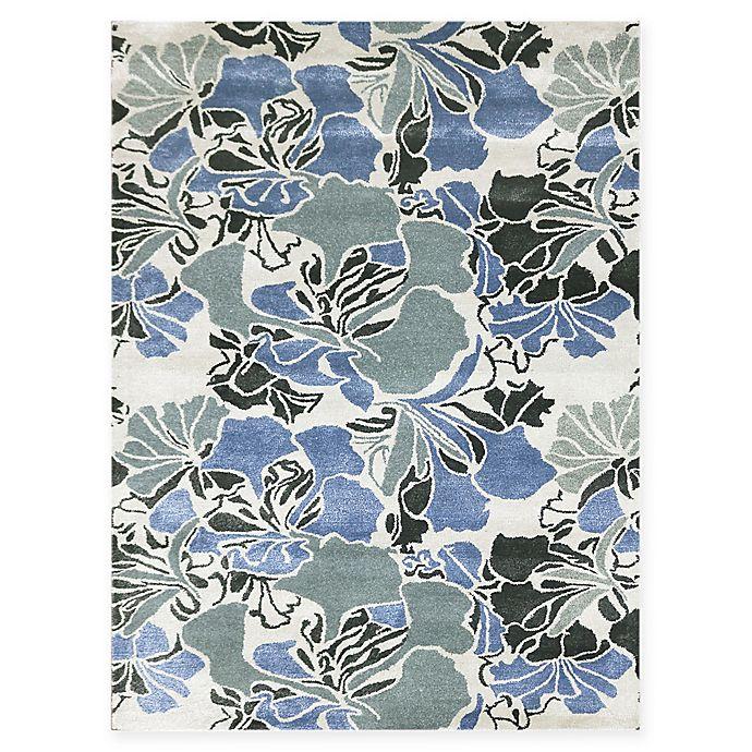 Alternate image 1 for Amer Shimmer Floral Spray 8' x 11' Area Rug in Blue