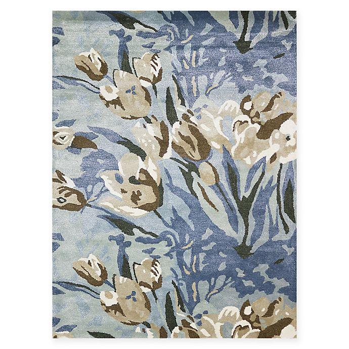 Alternate image 1 for Amer Shimmer Floral  8' x 11'  Area Rug in Aqua