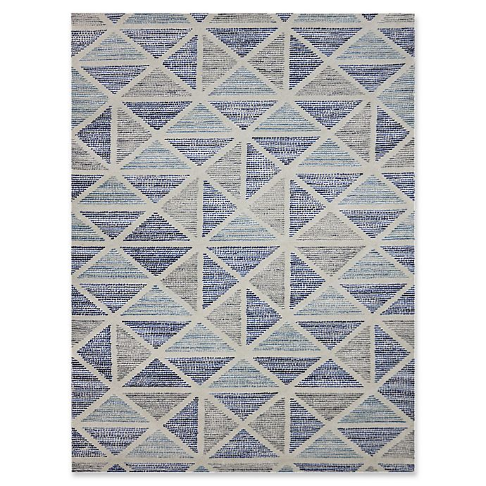 Alternate image 1 for Amer Rugs Vector Modern Hand-Tufted 2' x 3' Rug in Blue/Grey