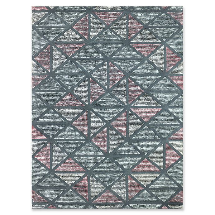 Alternate image 1 for Amer Rugs Vector Modern Hand-Tufted 7'6 x 9'6 Rug in Blue/Peach
