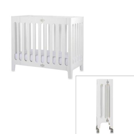 Bloom 174 Baby Alma Urban Folding Cot Mini Crib In Coconut