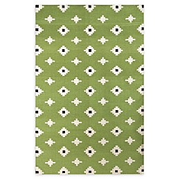Amer Rugs Zara Flat Weave Area Rug in Green