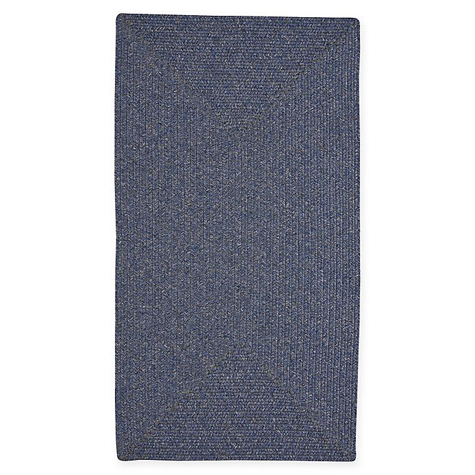 Alternate image 1 for Capel Rugs Candor Concentric Braided 8' x 11' Indoor/Outdoor Area Rug in Blue