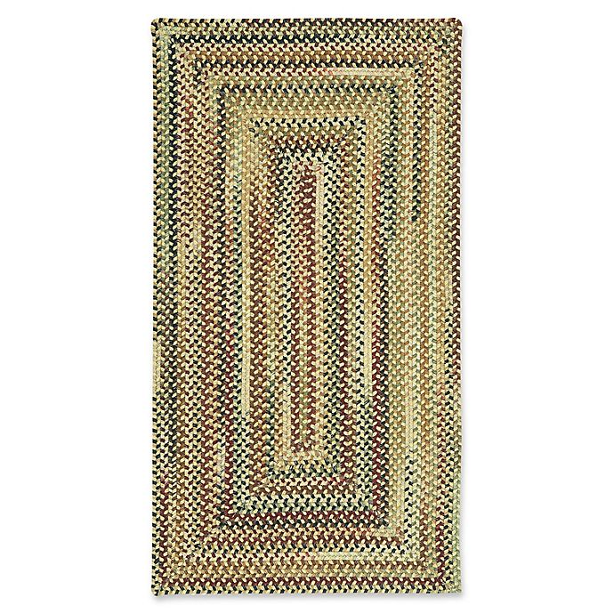 Alternate image 1 for Capel Rugs Bangor Concentric Braided 8' x 11' Area Rug in Amber