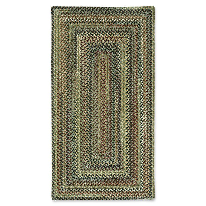Alternate image 1 for Capel Rugs Bangor Concentric Braided 8' x 11' Area Rug in Sage