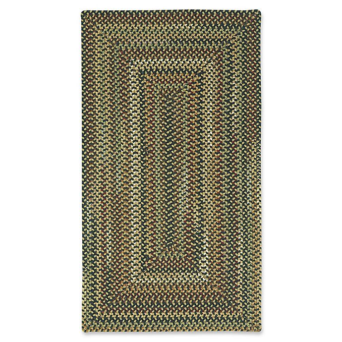 Alternate image 1 for Capel Rugs Bangor Concentric Braided 8' x 11' Area Rug in Charcoal