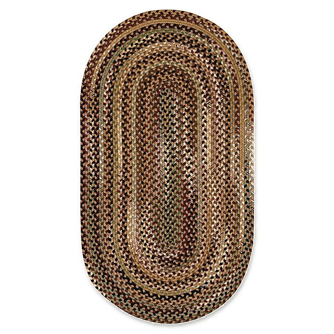 Alternate image 1 for Capel Rugs Bangor Oval Braided 4' x 6' Area Rug in Brown/Beige