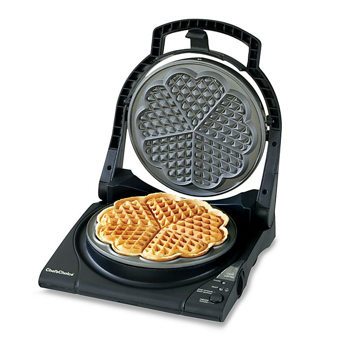 Chef Schoice Wafflepro Five Of Hearts Electric Waffle Maker Bed Bath Beyond
