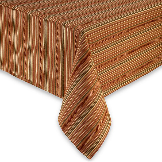 Alternate image 1 for Sam Hedaya Autumn Stripe Tablecloth