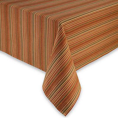 Sam Hedaya Autumn Stripe Tablecloth