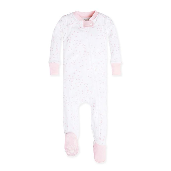 Alternate image 1 for Burt's Bees Baby® Size 24M Organic Cotton Twinkle Bee Footie in Pink