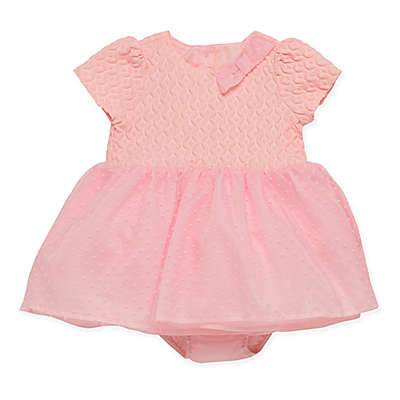 Baby Starters® 2-Piece Flocked Dot Tulle Dress and Diaper Cover Set in Pink